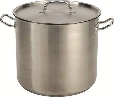 24 QT Quart Heavy Duty Stainless Steel Stock Pot Tri-Ply Capsule Base #513
