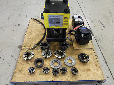 "Weatherhead T440/t410 2"" Hydraulic Hose Crimper Machine W/ New Electic Pump"