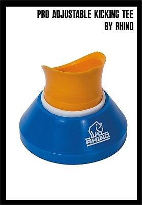 Rhino Pro Adjustable Rugby Kicking Tee blue/white/yellow NEW & IN PACKAGING