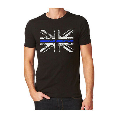 Thin Blue Line - Police - Union Jack T - Shirt ( New All Sizes Police Service