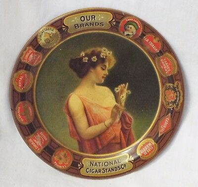 """Antique Small Original NATIONAL CIGAR STAND CO. """"Our Brand"""" Advertising TIP TRAY"""