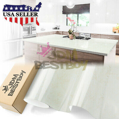 """4""""x8"""" Sample Gloss Marble Granite Look Vinyl Wrap Contact Paper Home Kitchen D03"""