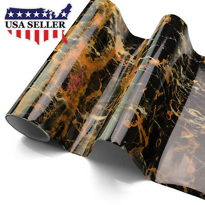 """4""""x8"""" Sample Gloss Marble Granite Look Vinyl Wrap Contact Paper Home Kitchen D14"""
