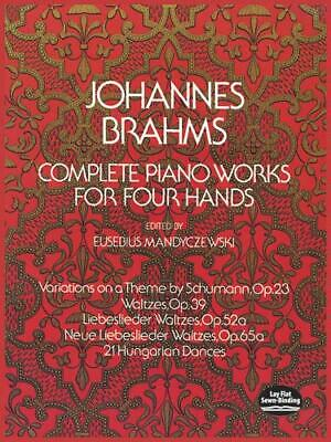 Johannes Brahms: Complete Piano Works For Four Hands Piano Duet Sheet Music Inst