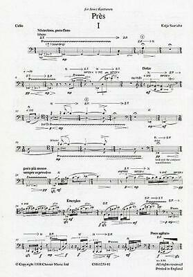 Kaija Saariaho: Pres (Cello Part) Cello, Electronics Sheet Music Part