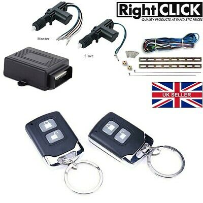2 Door Central Lock / Locking Kit Remote Keyless (Upgradable To 4 Doors)