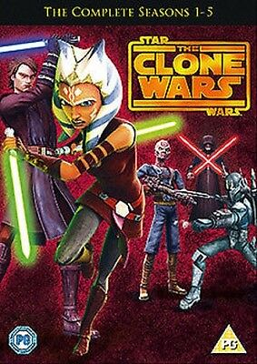 Star Wars The Clone Wars - Stagione 1 to 5 NUOVO DVD (1000415291)