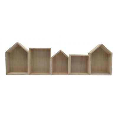 1pce 73x22x6cm Wooden 5 Section MDF House Storage Keep Raw or Ready to Paint Up
