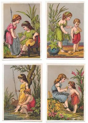 Group of four Ancient Rome themed Trade Cards   Unused and unusual