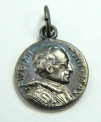 "Pope Pius XII and St. Peter Medal 1/2"" Round Pontifex Max Vintage Catholic"
