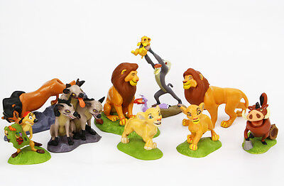 Lion King Simba Nala Playset 9 Figure Cake Topper Toy Doll Set