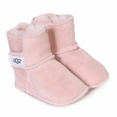 UGG Infants Baby Erin Suede Sheepskin Boot Baby Pink-Pink-0.5 (3-6 Months)