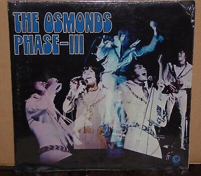 The Osmonds Phase III NEW SEALED vinyl LP record Donny Osmond