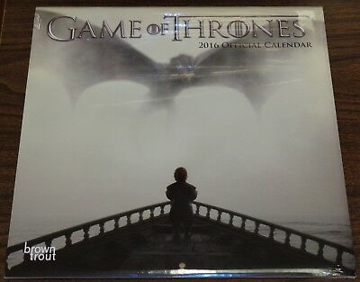 Game Of Thrones Official Hbo 2016 18 Month Calendar Brown Trout