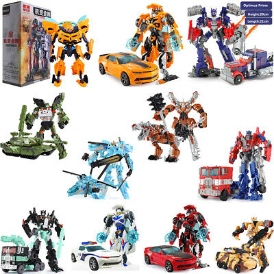 Transformers Action Figures Kids Toy Optimus Prime Ironhide Bumble Bee Autobots
