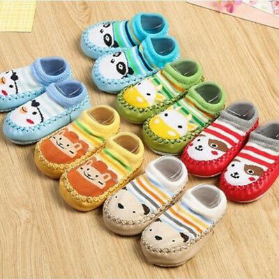Baby Non-Slip Cartoon Children's Slipper Socks NewBorn Infant Toddler Socks New