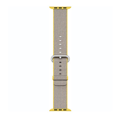 Apple Watch Woven Nylon Band 38mm, Yellow/Light Gray MNK72AM/A