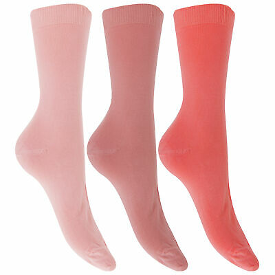 Wold And Harte Womens//Ladies Bamboo Socks 3 Pairs W529