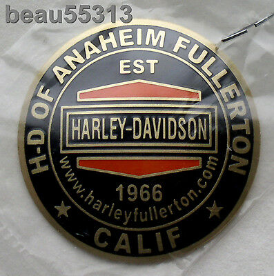 HD of ANAHEIM FULLERTON CALIFORNIA HARLEY DAVIDSON DEALER DOMED OIL DIP DOT