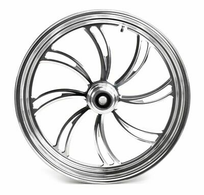 polished manhattan 21 3 5 billet front wheel rim harley touring Rear Drive Shaft Hub ultima polished billet 21 3 5 vortex front wheel rim single disc harley custom
