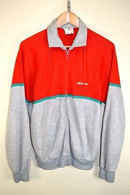 vtg 80s ADIDAS RARE RETRO VENTEX TRACK JACKET TRACKSUIT TOP CASUALS size UK 16