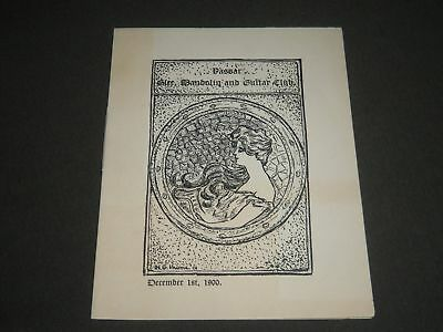 1900 December Vassar Glee-Mandolin & Guitar Club Program - J 2349