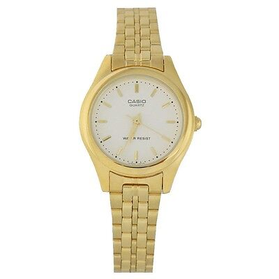 Casio LTP1129N-7A Ladies GOLD Tone Stainless Steel Casual Dress Watch NEW