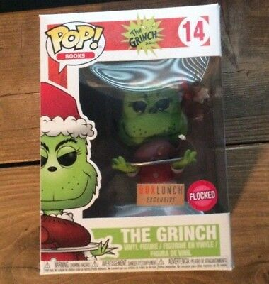 Funko Pop Books #14 Flocked The Grinch Dr Seuss Box Lunch Exclusive