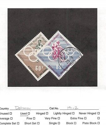 Lot of 25 Dahomey Used Air-Post Stamps #106338 X