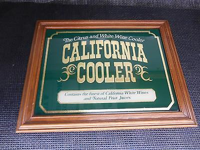 Old Vtg CALIFORNIA COOLER Wine Advertising Bar Wall Mirror Mancave Decor