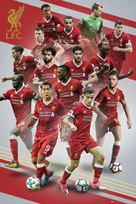 5639e544c6 Liverpool FC 2017 18 14-Players in Action POSTER Sturridge