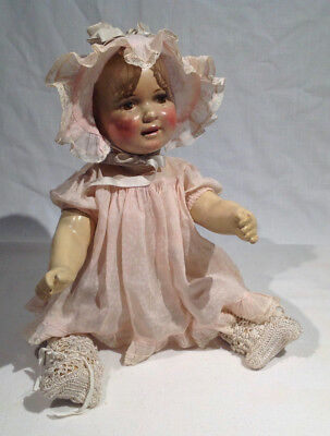 1916-1920 Raleigh Doll Company Composition Baby Doll, Beautiful