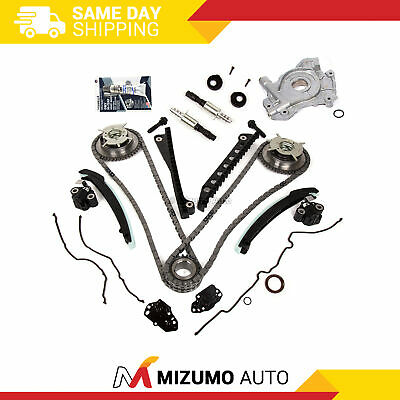 Timing Chain Kit Cam Phaser Selenoid Oil Pump Fit 04-10 Ford 5.4 TRITON 3 Valve