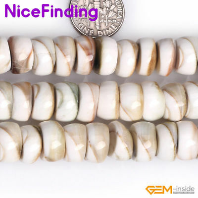 "Natural White Sea Shell Stone Beads For Jewelry Making Loose Beads Strand 15""DIY"