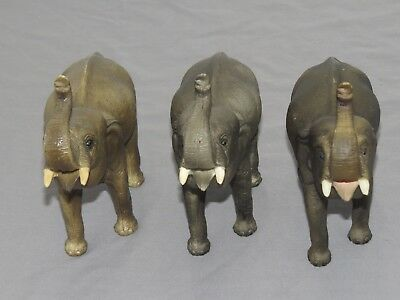 Vintage Breyer Animal Traditional Elephant Pink Mouth, Chalky, LOT of 3 Differen