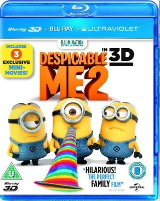 DESPICABLE ME 2 3D + 2D Blu-Ray BRAND NEW Free Shipping