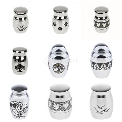Stainless Steel Cremation Funeral Memorial Urn for Human Ashes Adult Pet Ash Jar