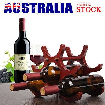 Wooden Butterfly Shape Wine Rack Unique 6 Bottles Comfortably Stores Wine Rack