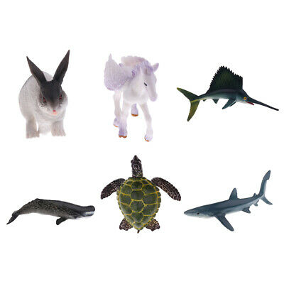 Realistic Rabbit/Pegasus/Sailfish Animal Model Role Play Figure Figurine Toy