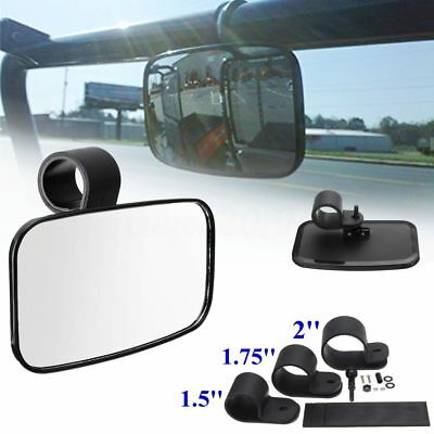 UTV Clear Rear View Center Mirror Wide Adjustable Shatter-Proof Glass Off Road