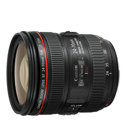 NEW Canon EF 24-70mm f/4L IS USM Lens For EOS 1 Year Warranty