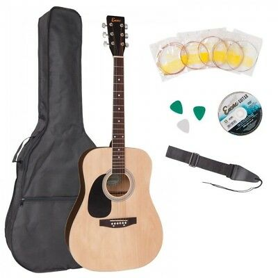 Encore Left-Handed Full-Size Acoustic Guitar Outfit - Ewp-100Lh - Dreadnought