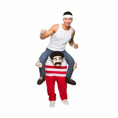Unisex Funny Carry Me Athlete Costume Red Adults Halloween Fancy Dress Party