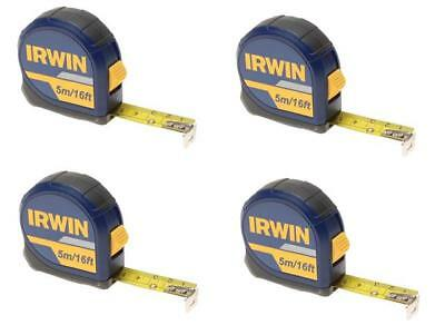 IRWIN 10508056 Pocket Tape Measure 5 Metre / 16 Foot (Width 19mm) **PACK OF 4**
