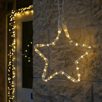 ConnectGo Connectable Outdoor Christmas LED Star Snowflake Motif | Rope Light