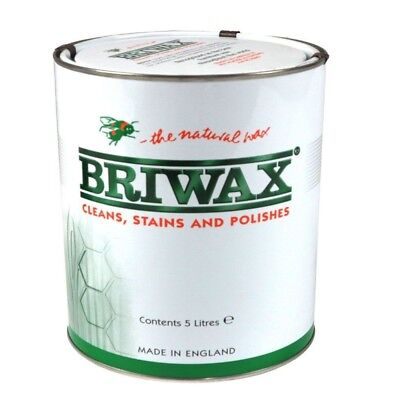 Briwax Toluene Free Satin Antique Clear 5 Litre