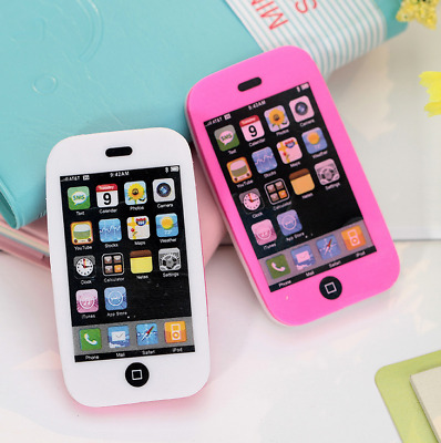 1x Hot Mobile Phone Shaped Cute Erasers Creative Students Stationery Rubber 97k