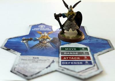 WOTC HeroScape Loose Figu Rise of the Valkyrie - Thorgrim the Viking Champi NM