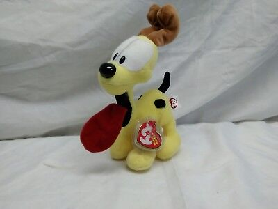 Ty Beanie Baby ODIE the Dog (From Garfield Cartoon) With TAGS