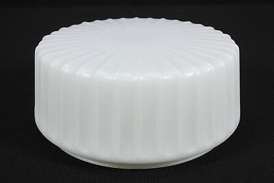 """White Frosted Glass Vintage Shade For Ceiling Light 7 11/16"""" Fitter 4"""" Tall"""